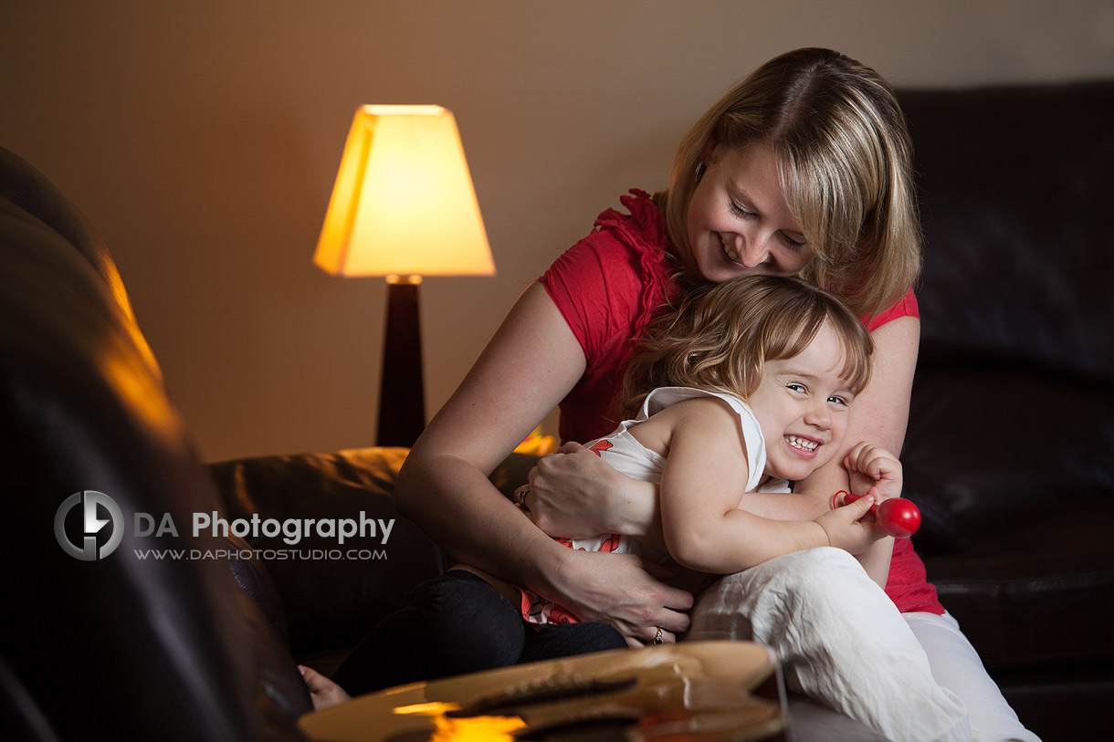 Indoor play, mommy with her little girl - Family Photo Session by DA Photography, www.daphotostudio.com, Sutton, ON